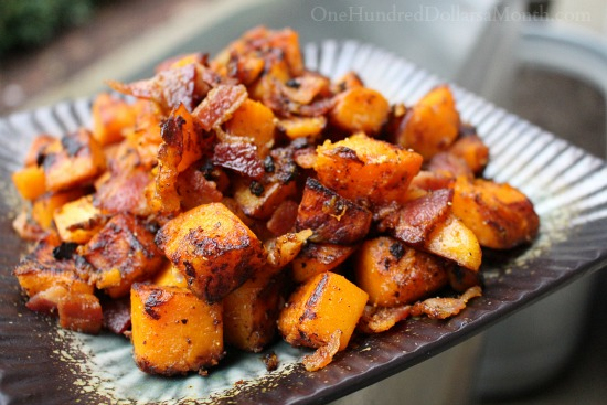 Butternut Squash and Bacon Saute