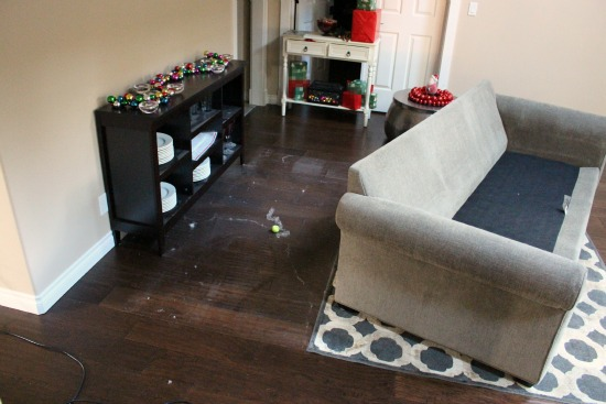 Dust Bunnies, Moving Furniture and Two Christmas Trees