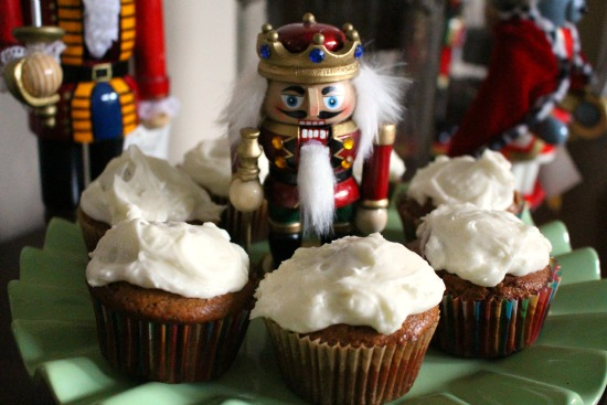 Gingerbread Cupcakes w/ Lemony Cream Cheese Frosting