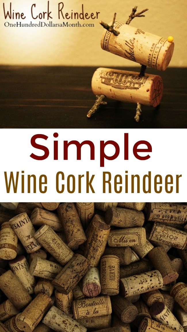 Easy Holiday Craft – Reindeer Out of Wine Corks