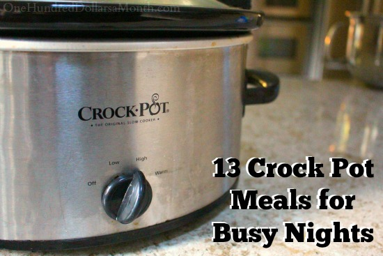 13 Crock Pot Meals for Busy Nights