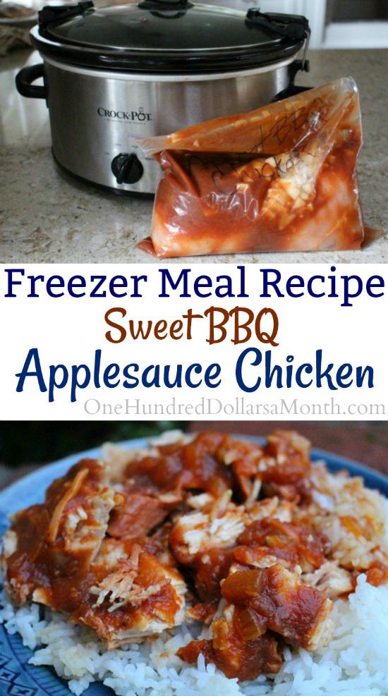 Freezer Meal Recipe – Sweet BBQ Applesauce Chicken