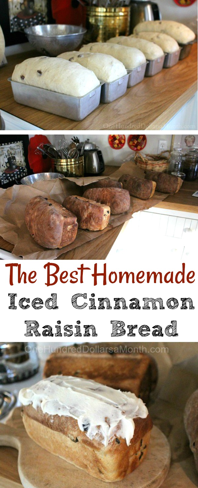 Shirley's Iced Cinnamon Raisin Bread