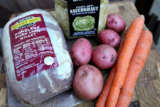 Slow Cooker Pork Roast with Sauerkraut