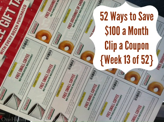 52 Ways to Save $100 a Month | Clip a Coupon  {Week 13 of 52}