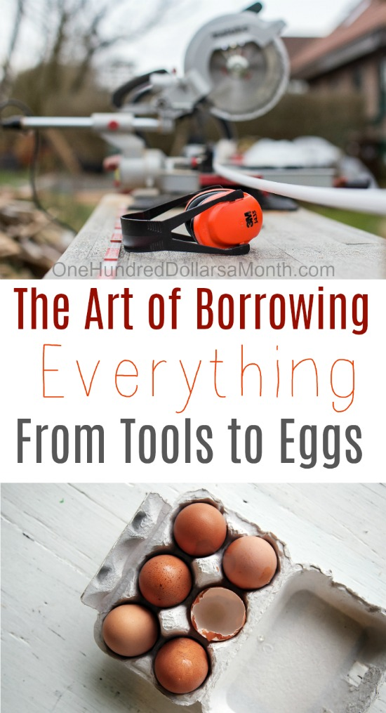 52 Ways to Save $100 a Month | The Art of Borrowing {Week 11 of 52}