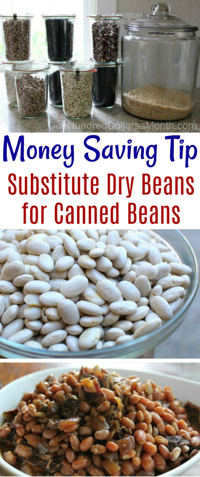 Money Saving Tip – Substitute Dry Beans for Canned Beans in Slow Cooker