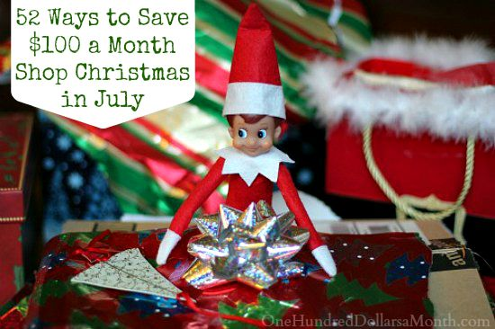 52 Ways to Save $100 a Month | Shop Christmas in July {Week 18 of 52}