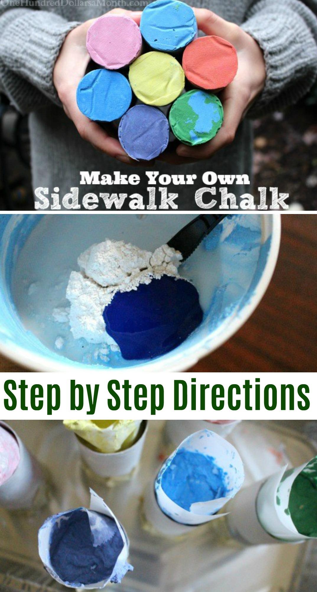 Homemade Sidewalk Chalk
