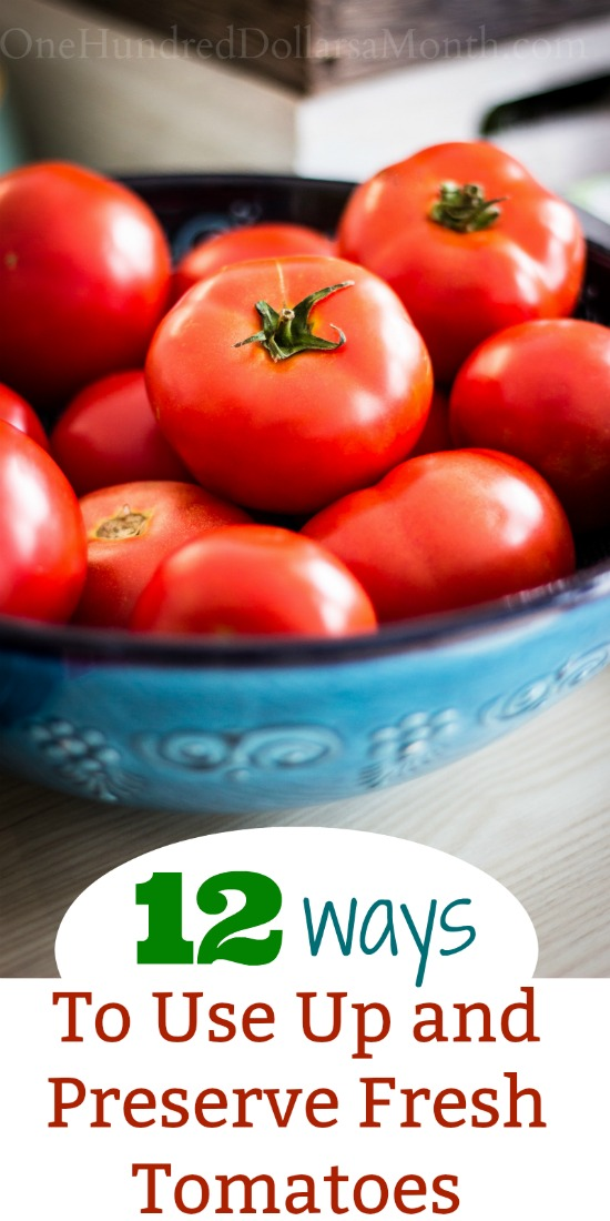 12 Ways to Use Up and Preserve Fresh Tomatoes