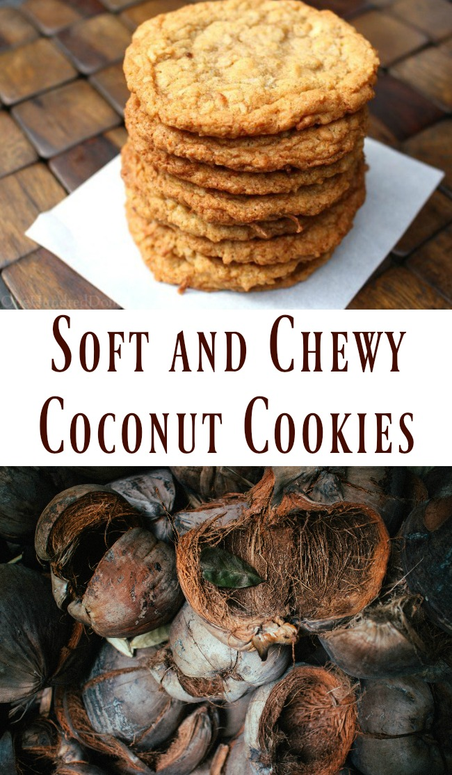 Soft and Chewy Coconut Cookies