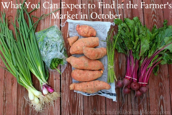 What You Can Expect to Find at the Farmer's Market in October