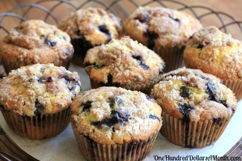 Blueberry Muffins with Crumb Topping Recipes