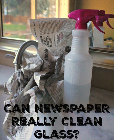 Can Newspaper Really Clean Glass?