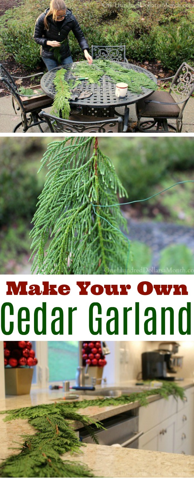 Homemade Holidays – DIY Cedar Garland