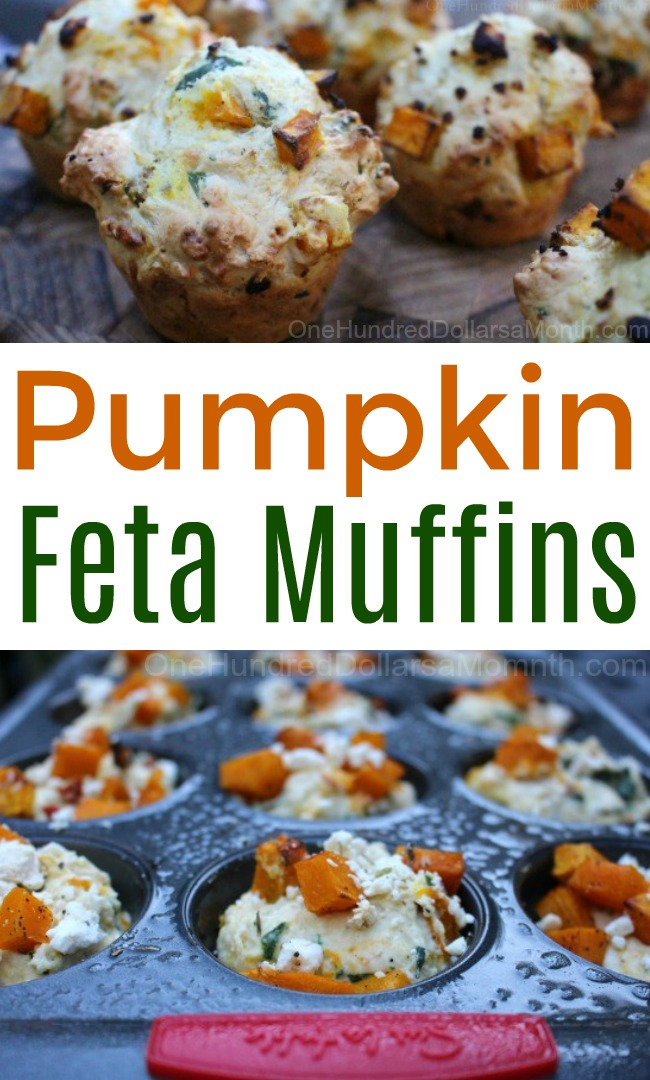 Savory Pumpkin and Feta Muffins