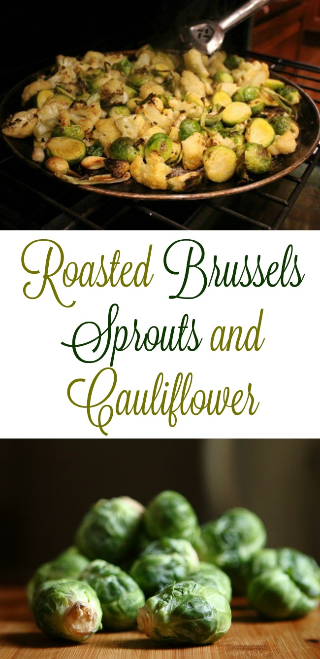 Mrs. HB's Recipe for Roasted Brussel Sprouts and Cauliflower