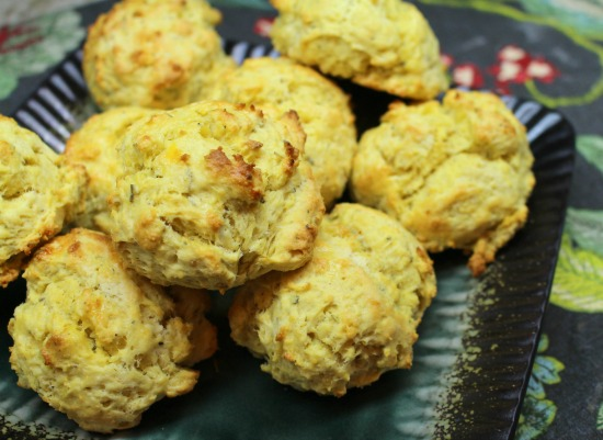 Squash and Thyme Biscuit Recipe Using FoodSaver Preserved Butternut Squash