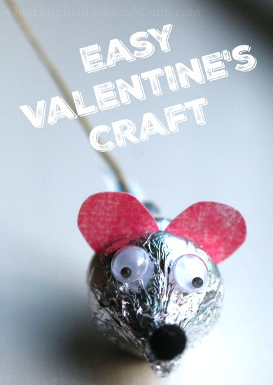 Easy Valentine's Craft — Hershey's Kiss Mice