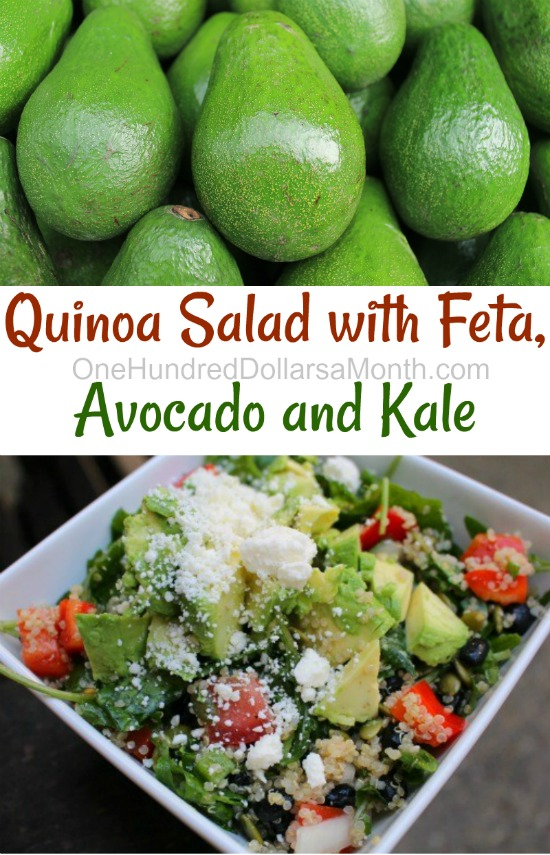 Quinoa Salad with Feta, Avocado and Kale