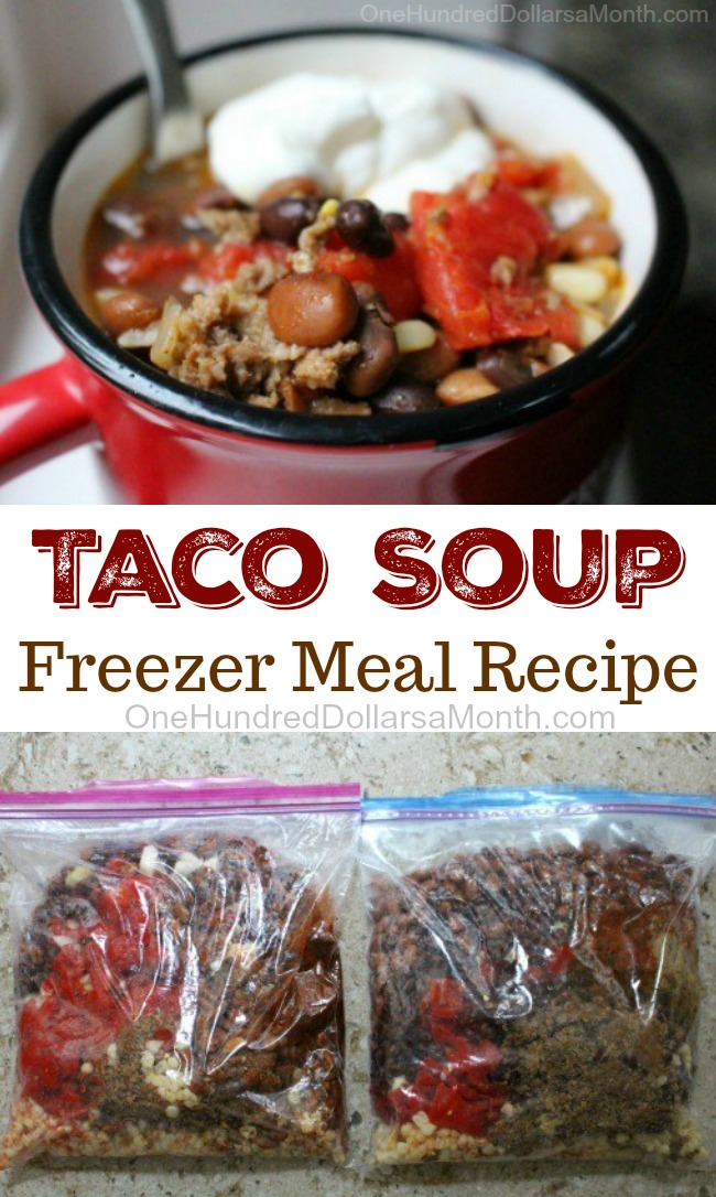 Easy Freezer Meal Recipes – Taco Soup