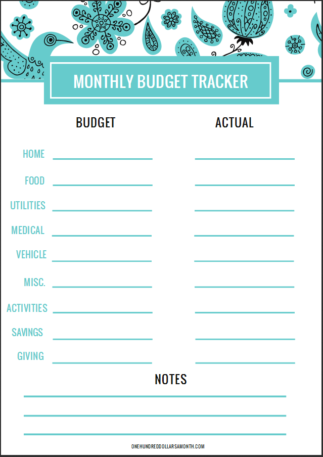 Building a Budget: Monthly Budget Categories