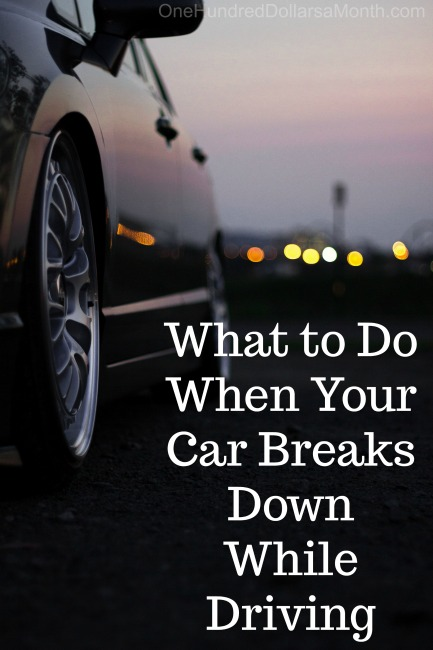 What to Do When Your Car Breaks Down While Driving
