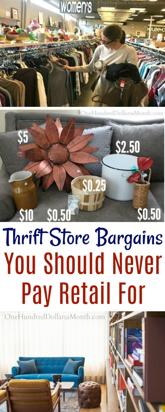 17 Thrift Store Bargains You Should Never Pay Retail For