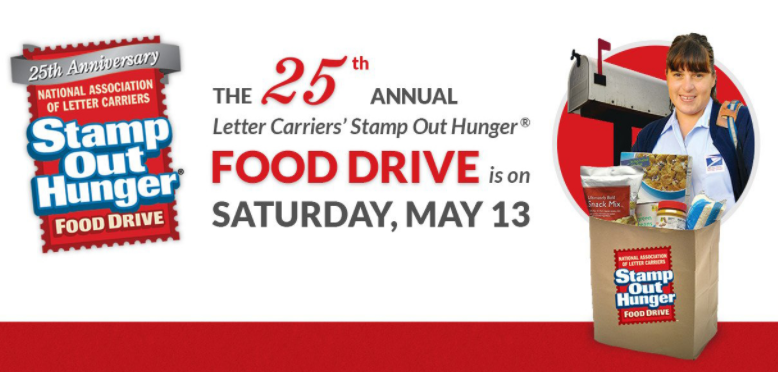 Stamp Out Hunger Food Drive This Saturday May 13th