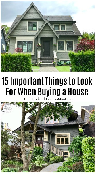 15 important things to look for when buying a house one for Things to do to buy a house