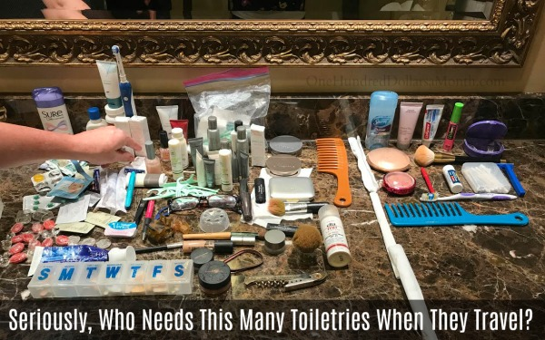 Seriously, Who Needs This Many Toiletries When They Travel?
