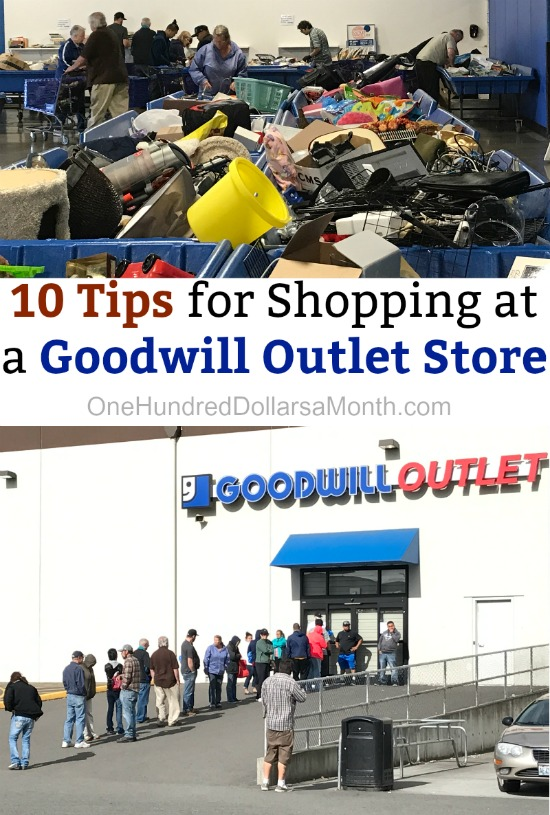 10 Tips for Shopping at a Goodwill Outlet Store
