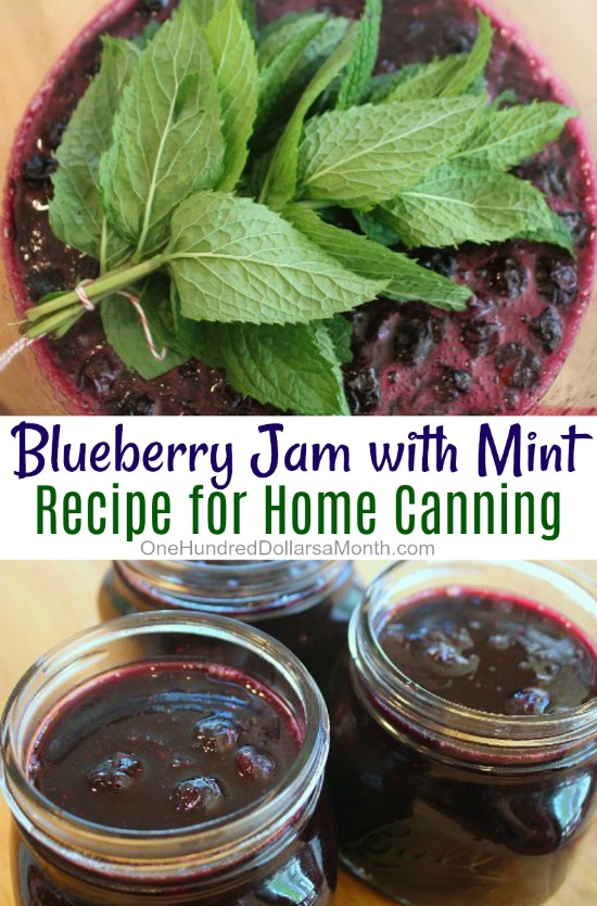 Blueberry Jam with Mint