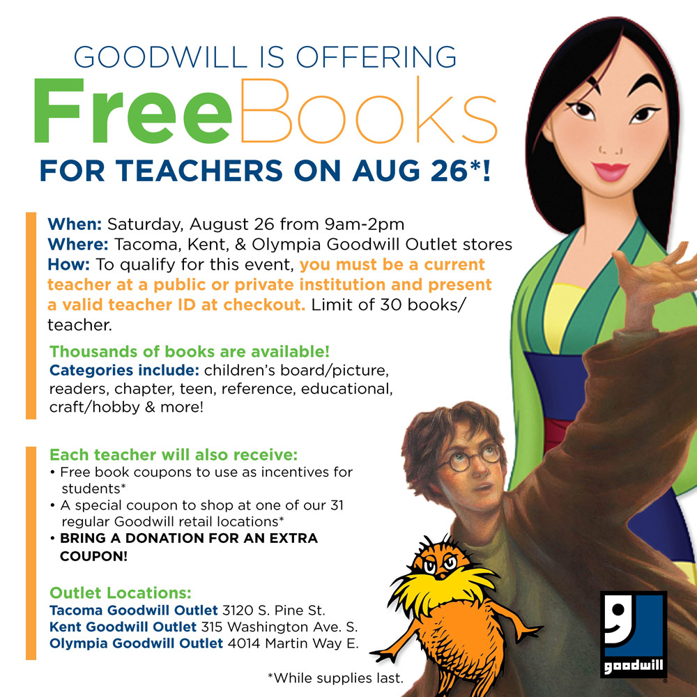 Free Books for Teachers at the Goodwill Outlet