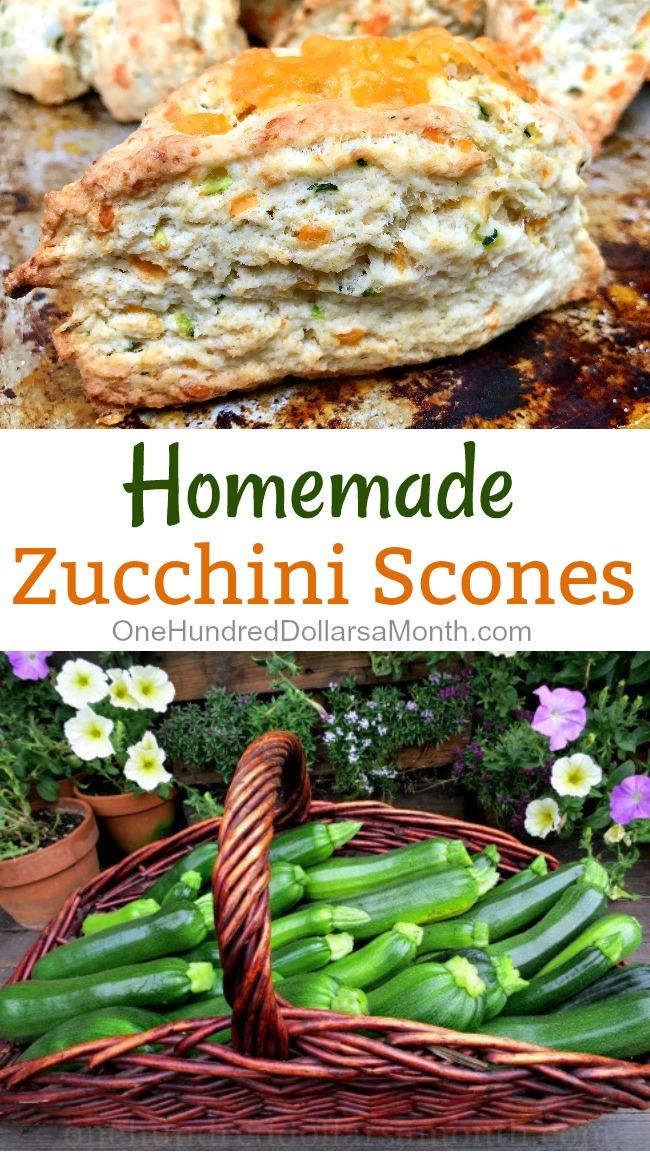 Cheesy Zucchini Scones