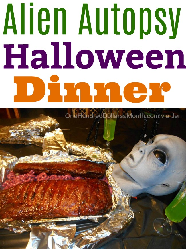 Jen's Alien Autopsy Halloween Dinner