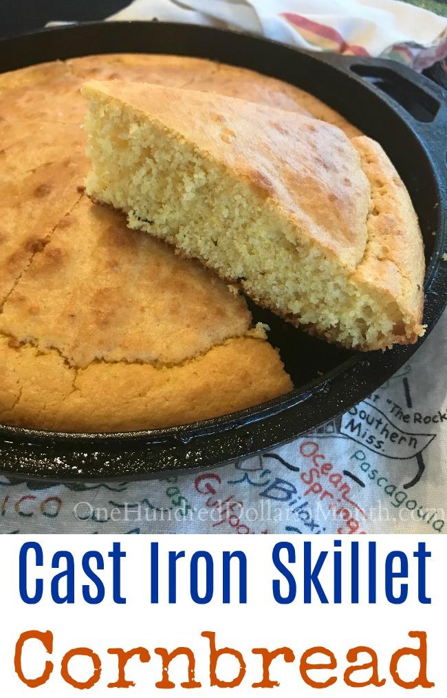 Mrs. Hillbilly's Favorite Southern Skillet Cornbread Recipe