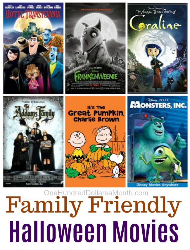 Friday Night at the Movies – Family Friendly Halloween Movies