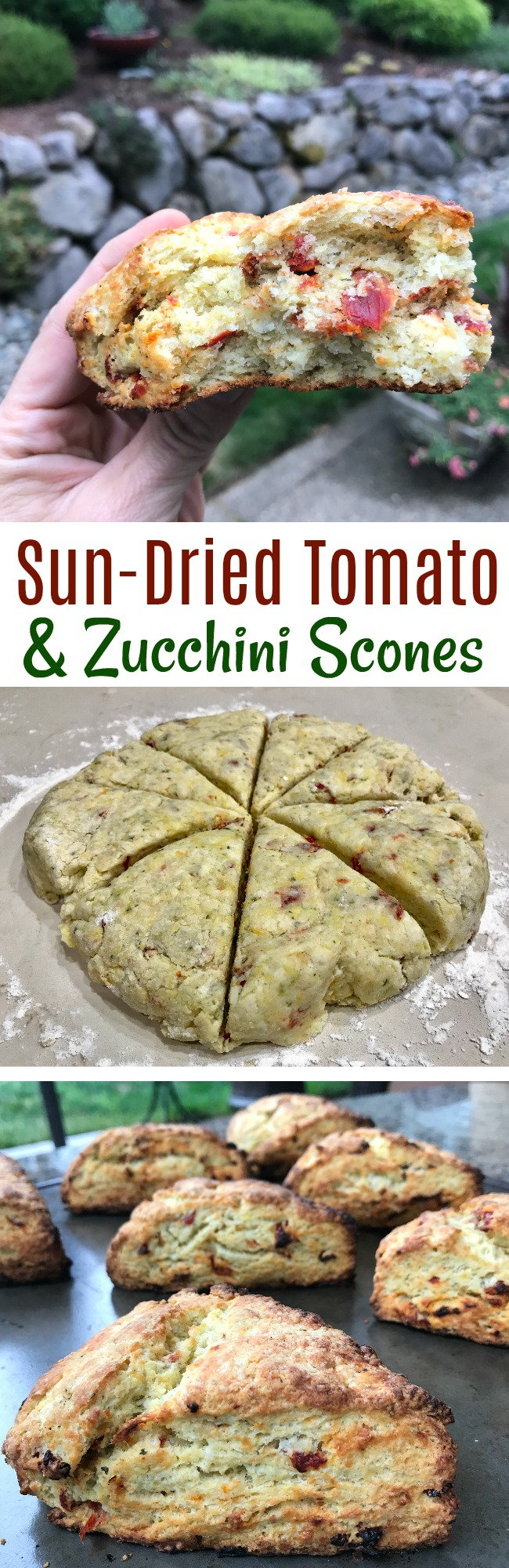 Sun-Dried Tomato and Zucchini Scones