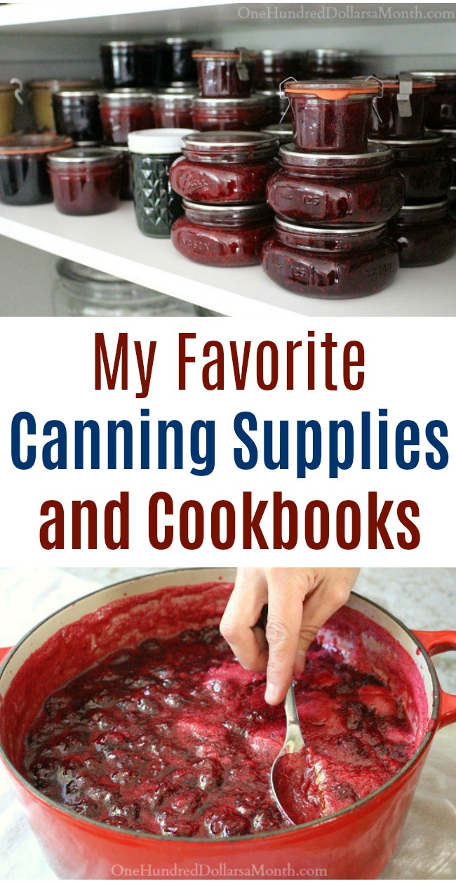 My Favorite Canning Supplies and Cookbooks