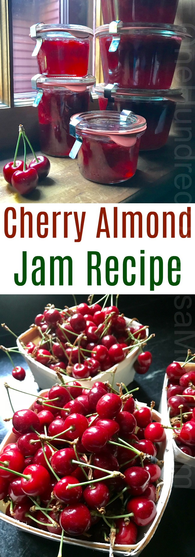 Cherry Almond Jam Recipe {It's AMAZING!!!}