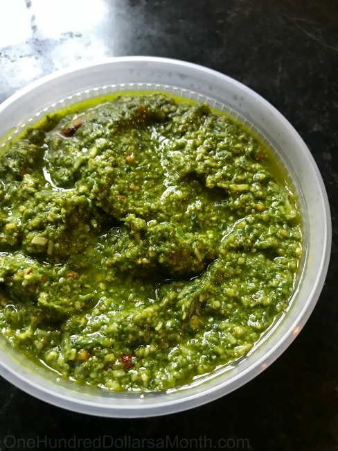 Basil Almond Pesto Recipe