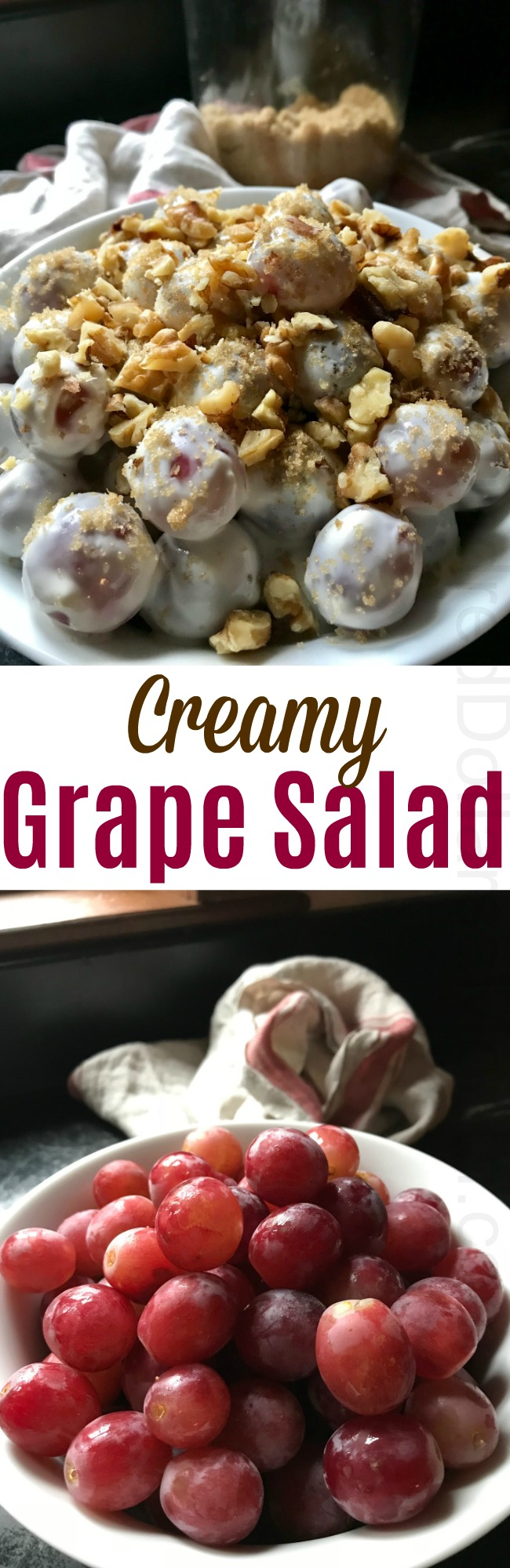 Carole's Creamy Grape Salad