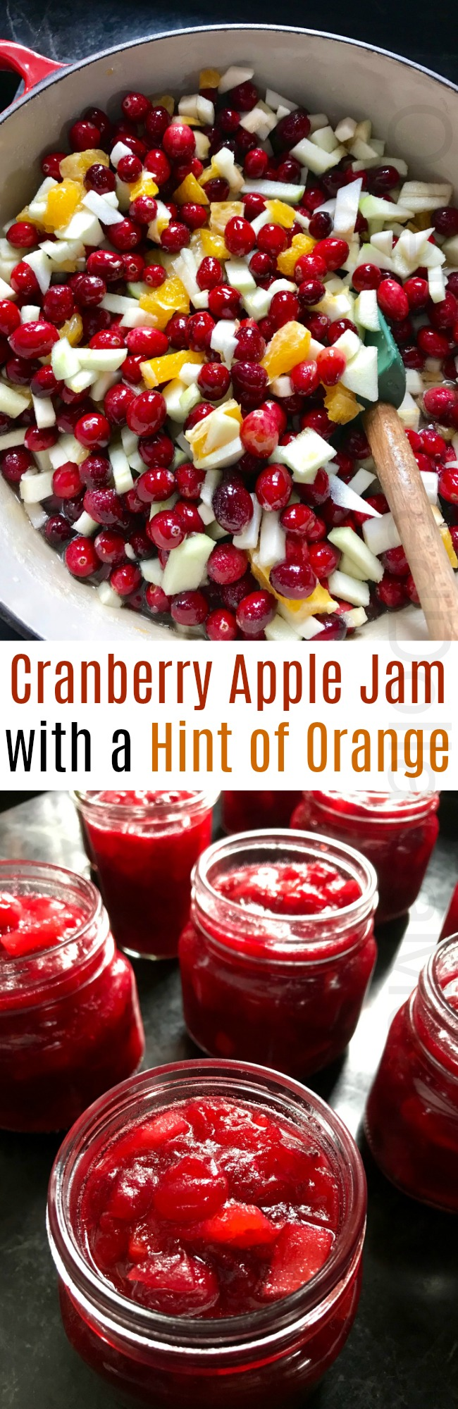 Cranberry Apple Jam with a Hint of Orange