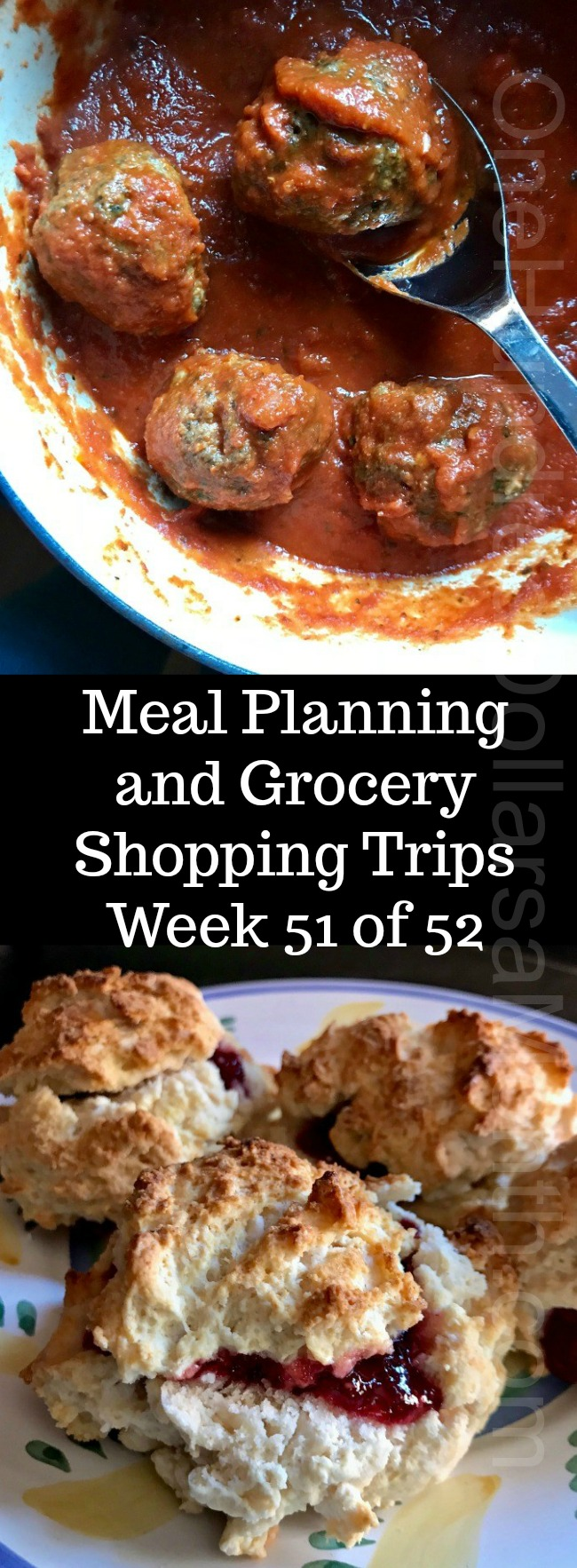 Meal Planning and Grocery Shopping Trips – Week 51 of 52
