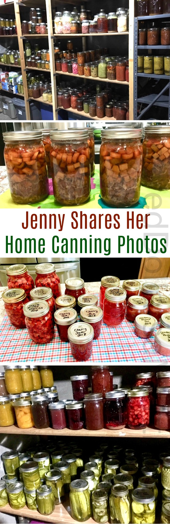 Mavis Mail – Jenny Sends in Her Amazing Canning Photos {WOWZA}