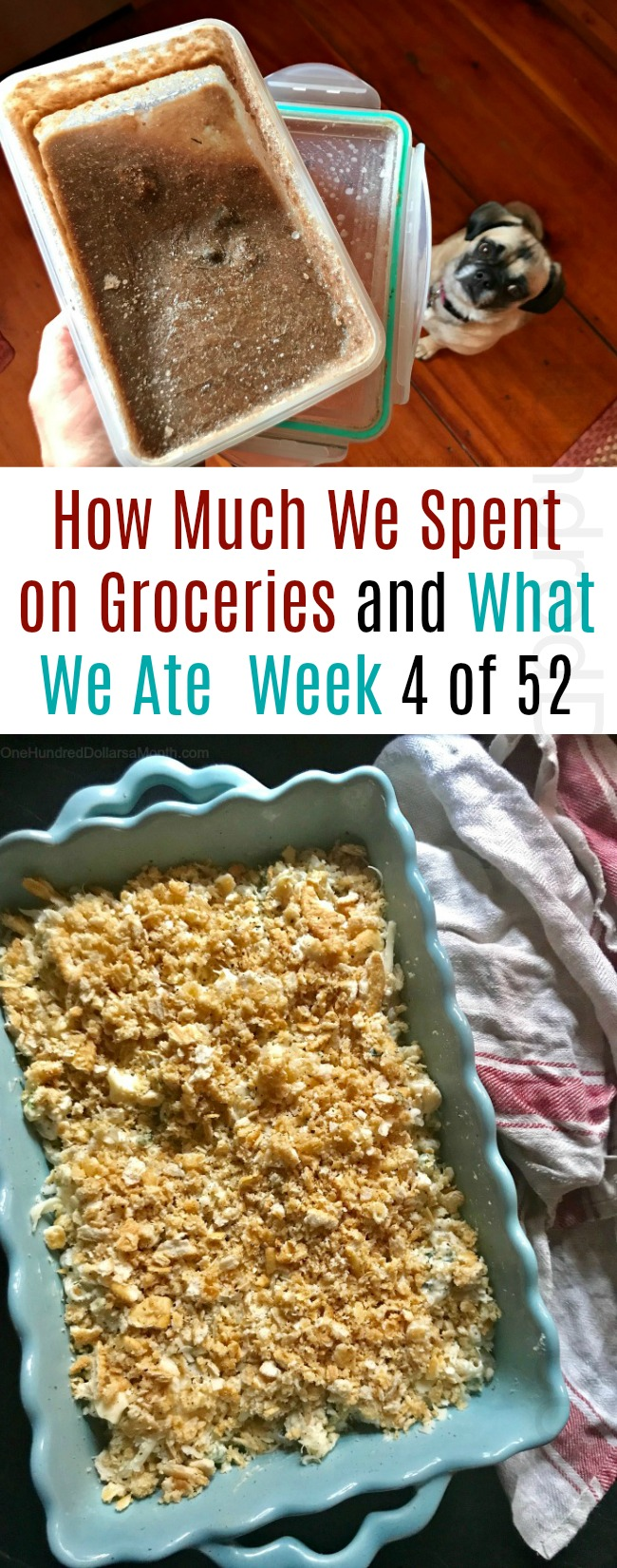 How Much We Spent on Groceries and What We Ate – Week 4 of 52