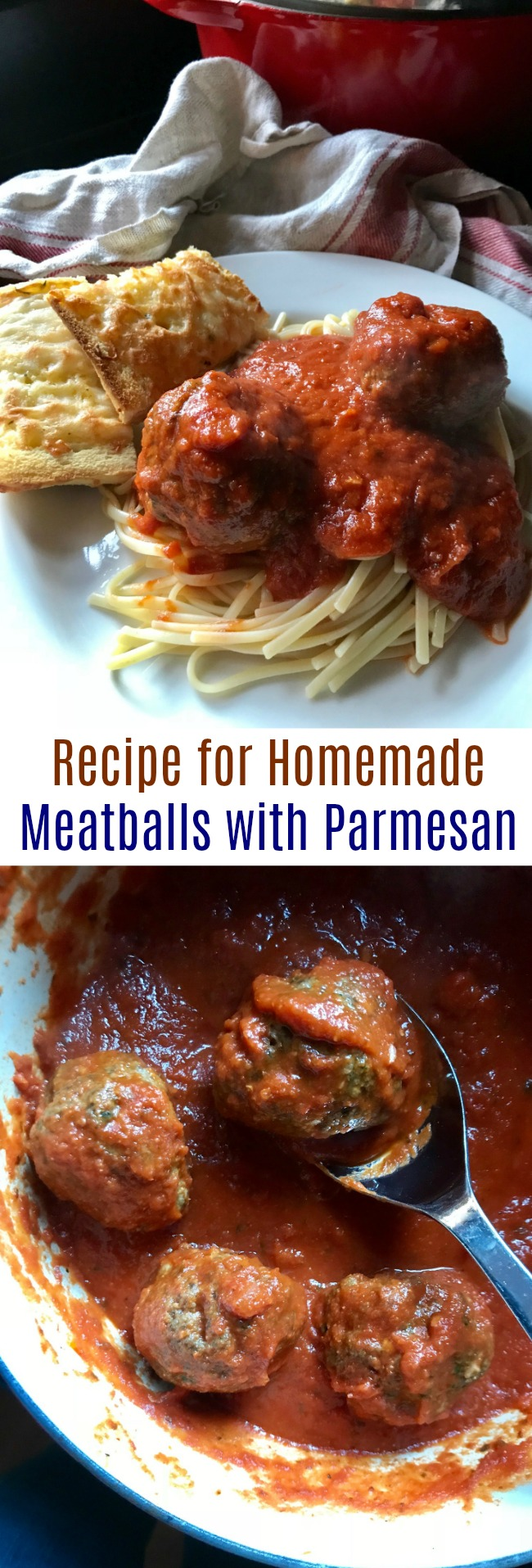 Recipe for Homemade Meatballs with Parmesan