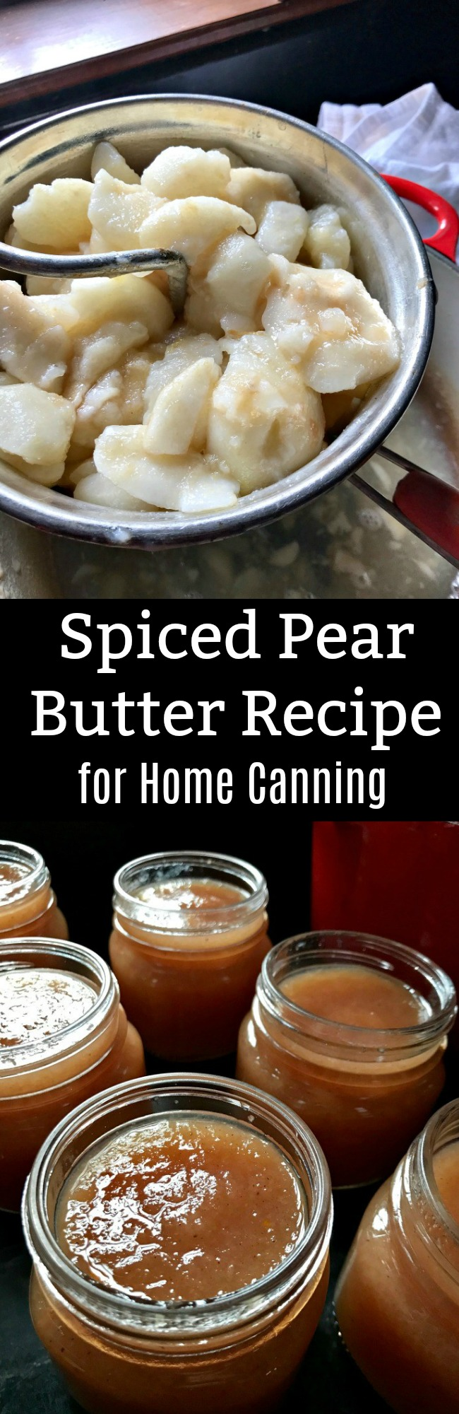 Spiced Pear Butter for Home Canning