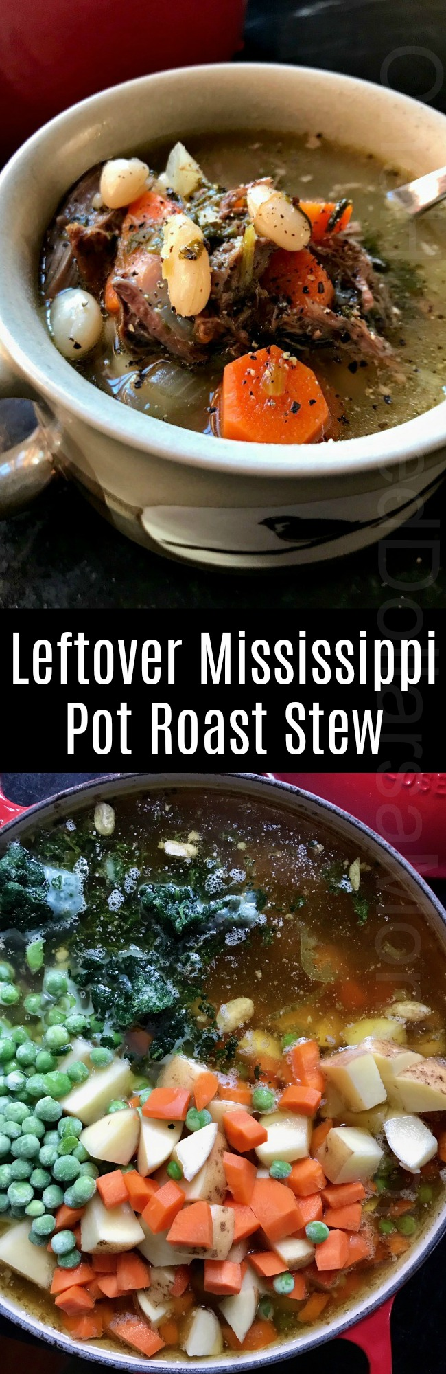 Leftover Mississippi Pot Roast Stew